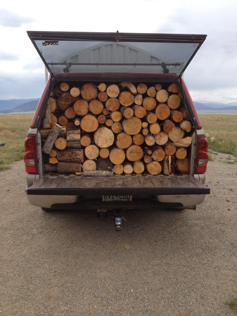 My truck that I love (and that holds lots of firewood).